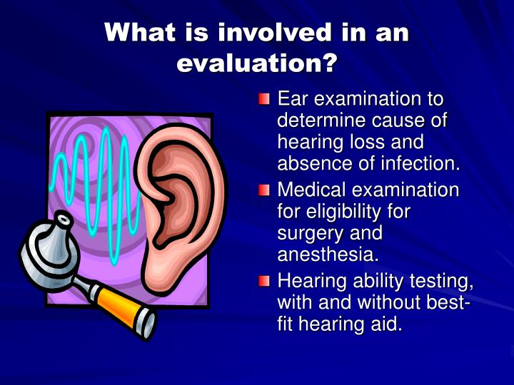 What is involved in an evaluation?
