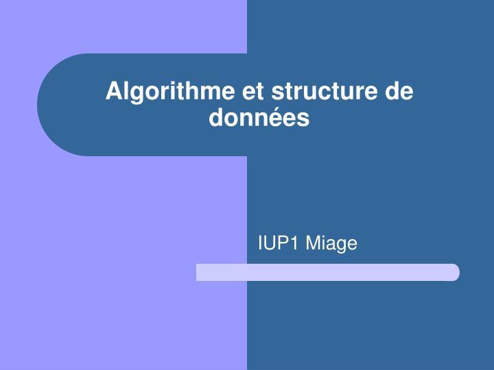 algorithme et structure de donn es n.