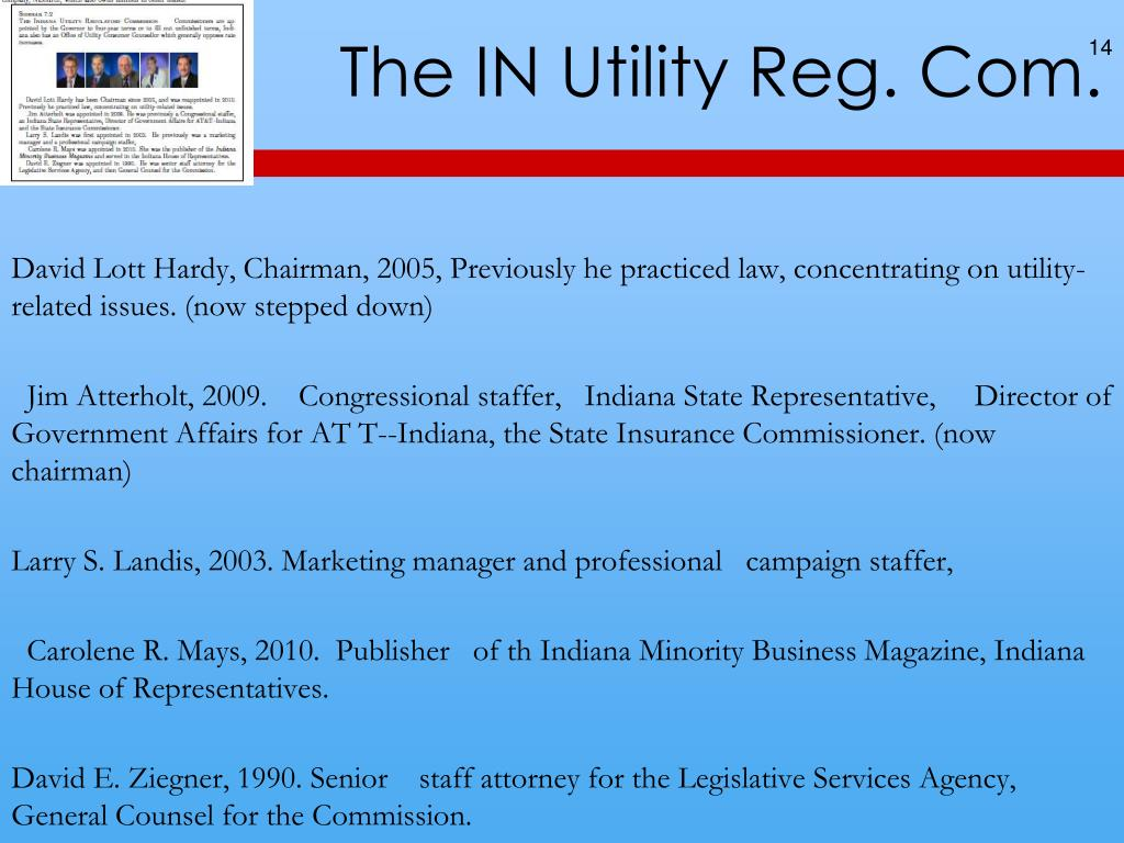 PPT - UTILITIES G406, Regulation, ch 7 Utilities Eric