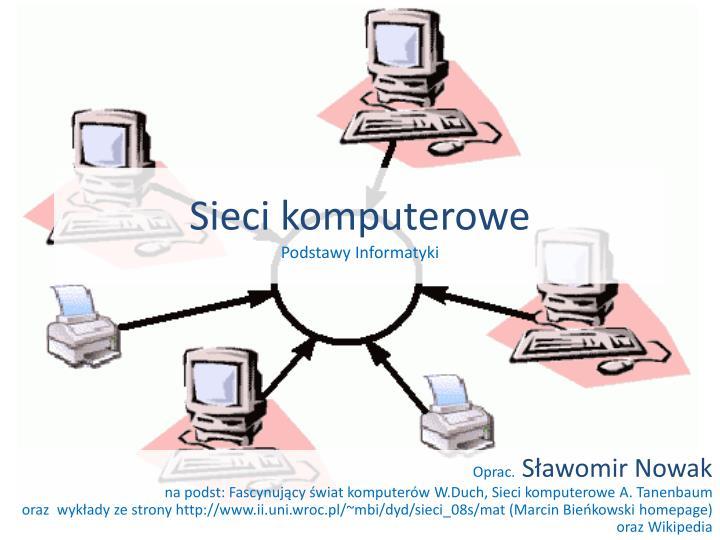 sieci komputerowe podstawy informatyki n.