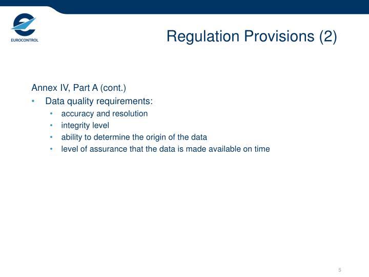 Regulation Provisions (2)