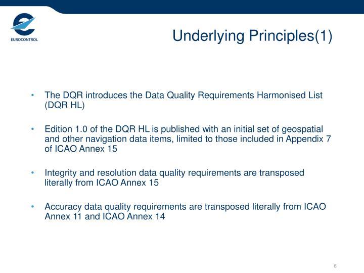 Underlying Principles(1)