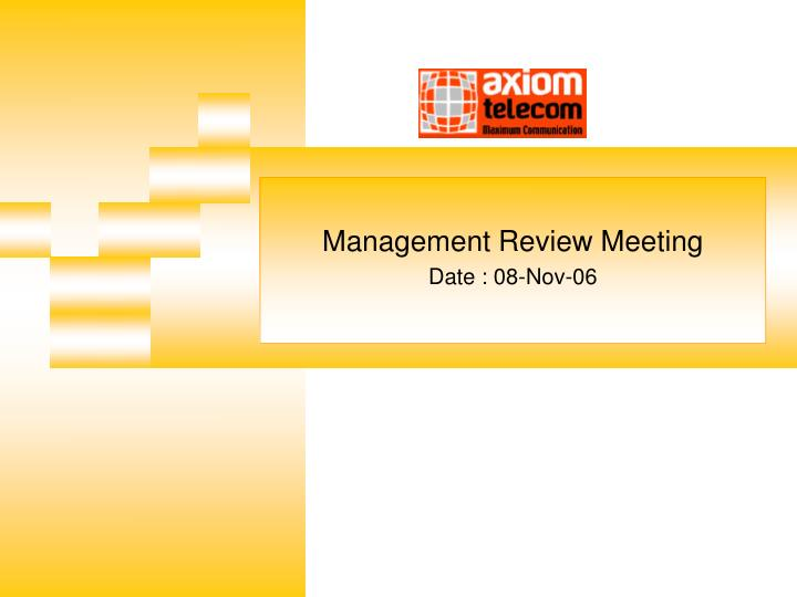management review meeting date 08 nov 06 n.
