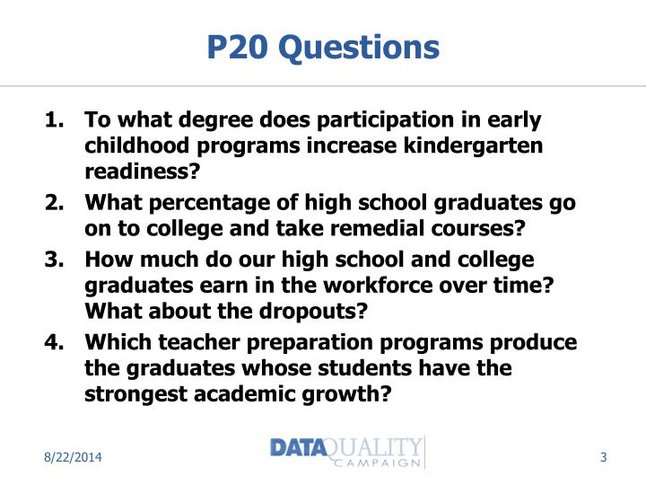 P20 questions