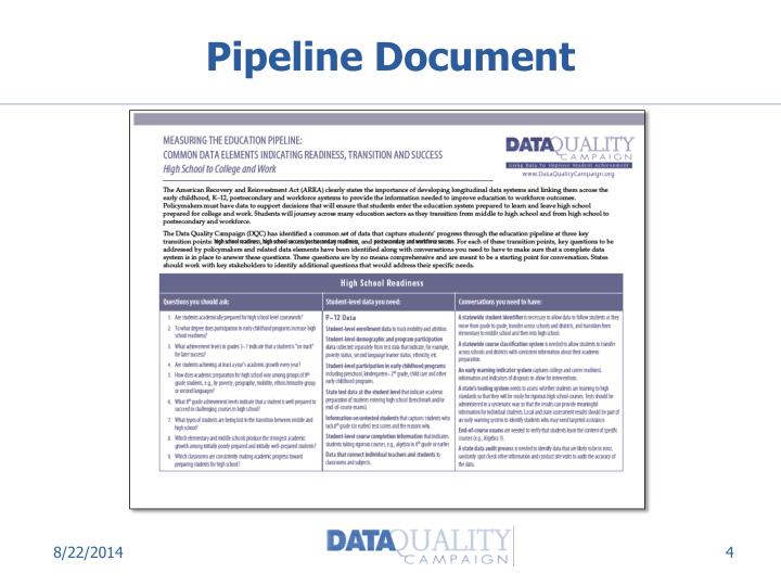 Pipeline Document