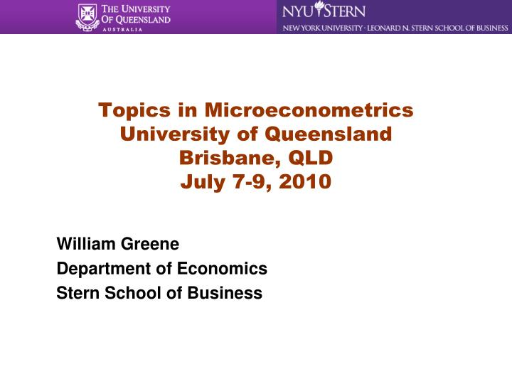 william greene department of economics stern school of business n.