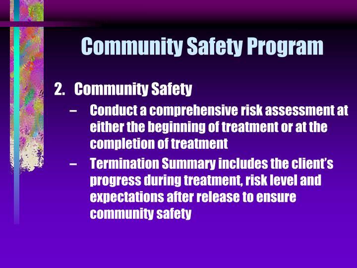 Community Safety Program