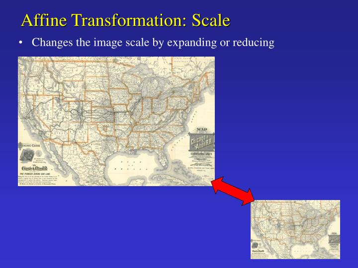 Affine Transformation: Scale