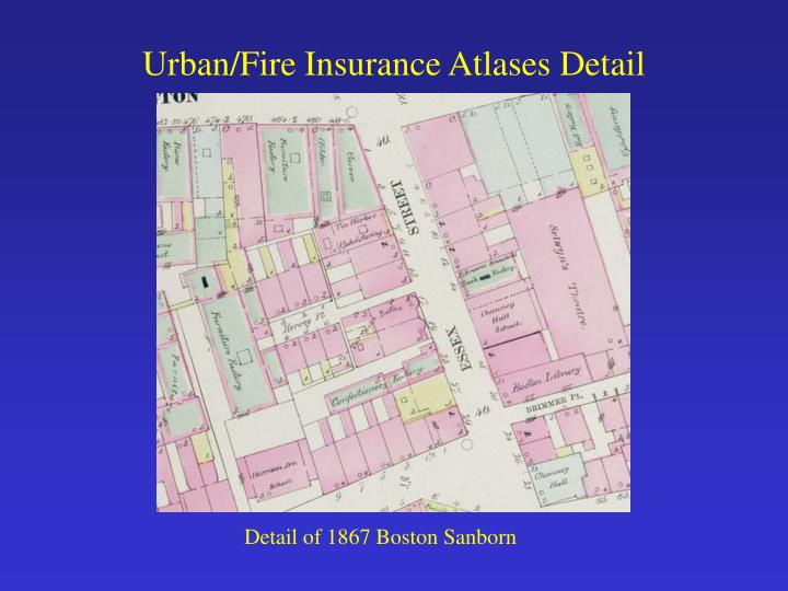 Urban/Fire Insurance Atlases Detail