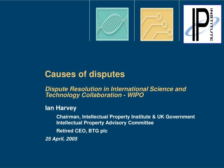 Causes of disputes
