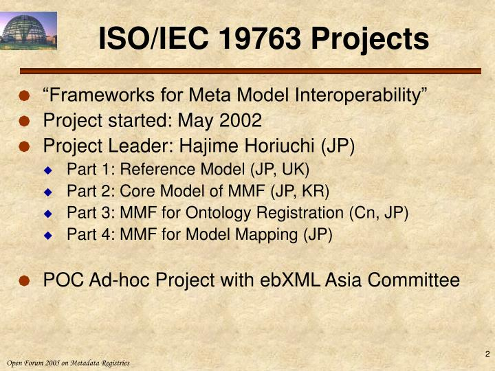 Iso iec 19763 projects