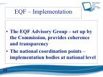 eqf implementation
