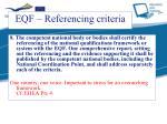eqf referencing criteria7