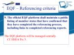 eqf referencing criteria8