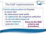 the eqf implementation2