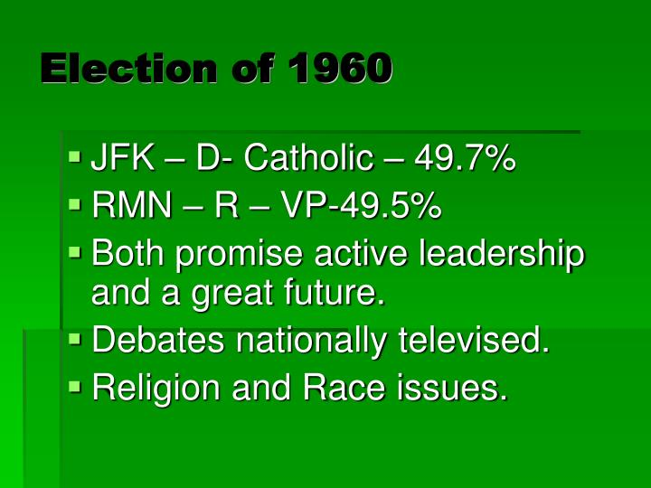 election of 1960 n.