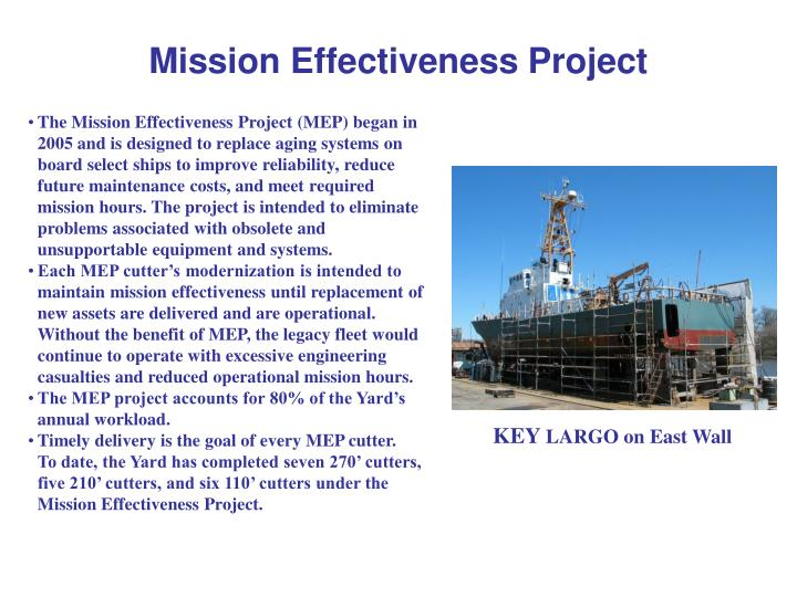 mission effectiveness project n.
