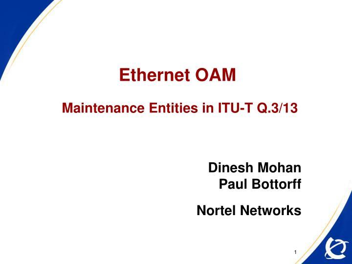 Ethernet OAM