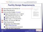 facility design requirements
