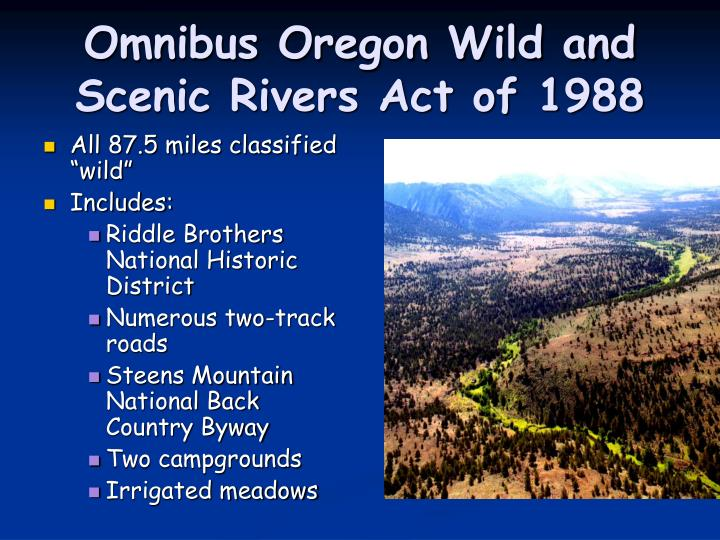 Ppt wild and scenic rivers powerpoint presentation id for Oregon state powerpoint template