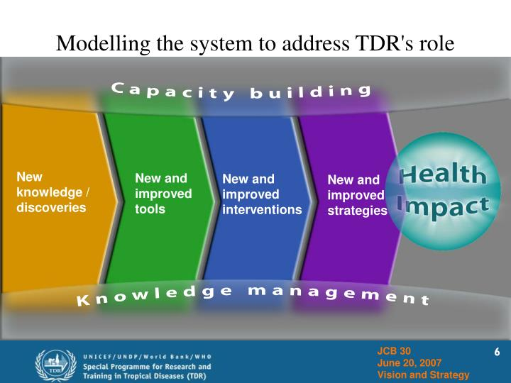 Modelling the system to address TDR's role