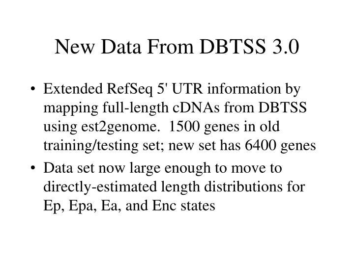 New Data From DBTSS 3.0