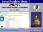 unspsc united nations standard products and services code