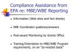 compliance assistance from epa re mbe wbe reporting