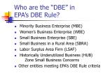 who are the dbe in epa s dbe rule