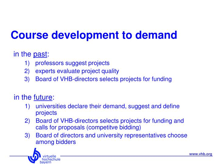 Course development to demand