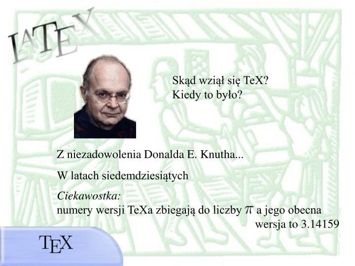Skąd wziął się TeX?