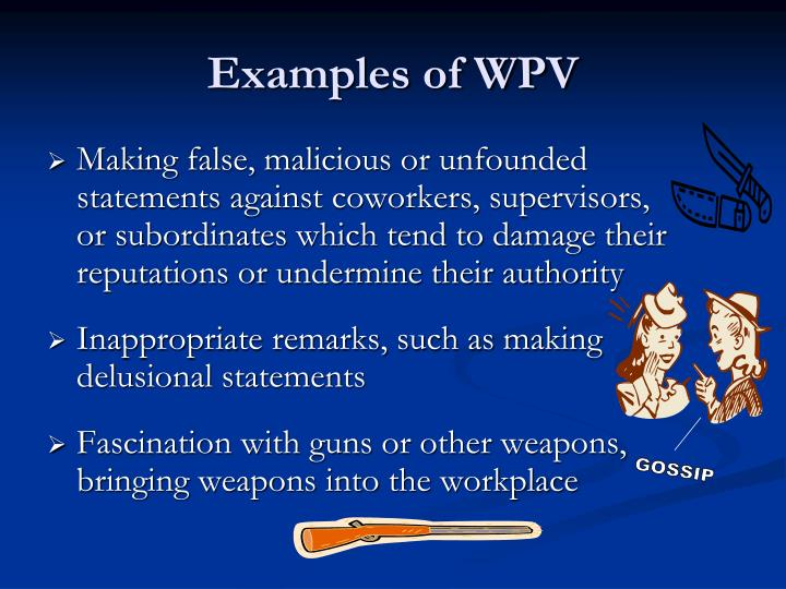 Examples of WPV