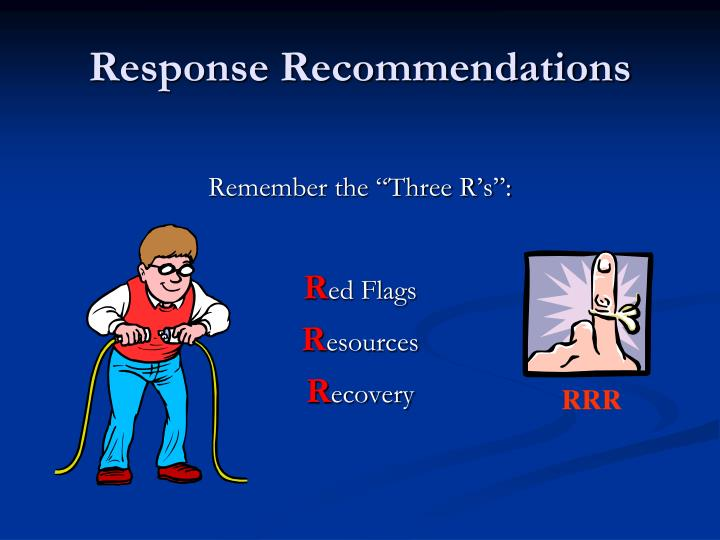 Response Recommendations