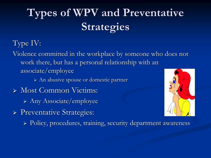 Types of WPV and Preventative Strategies