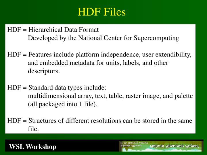 HDF Files