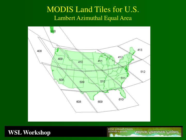 MODIS Land Tiles for U.S.