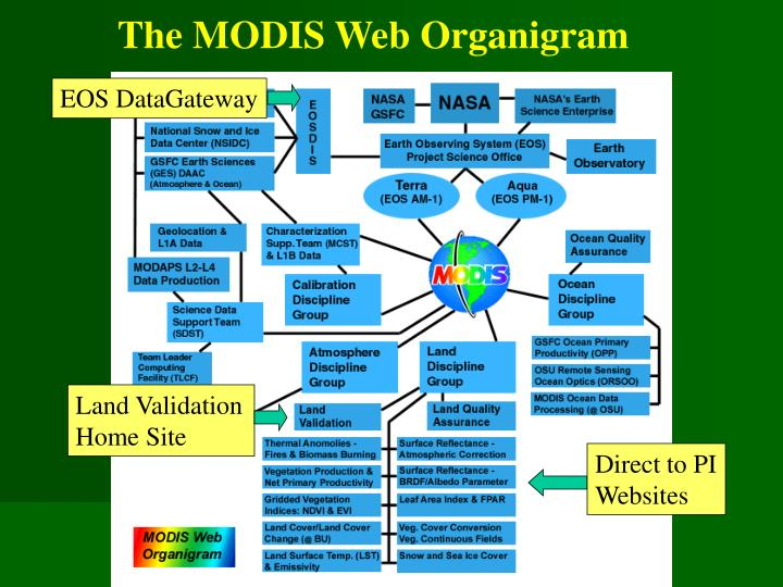 The MODIS Web Organigram