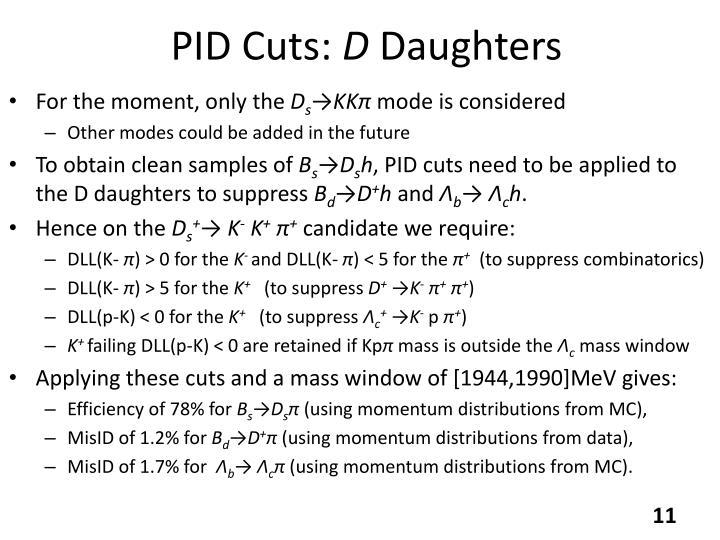 PID Cuts: