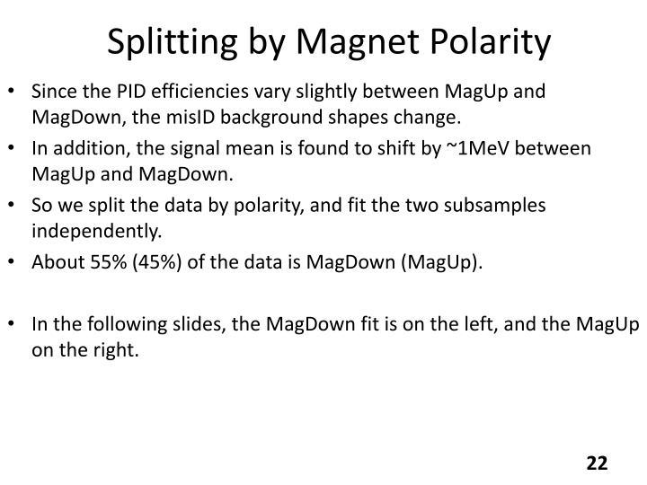 Splitting by Magnet Polarity