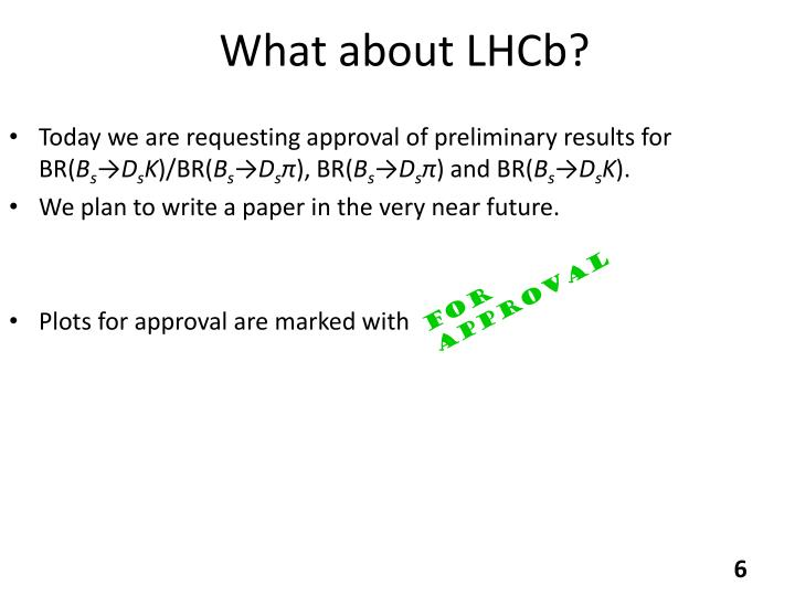 What about LHCb?