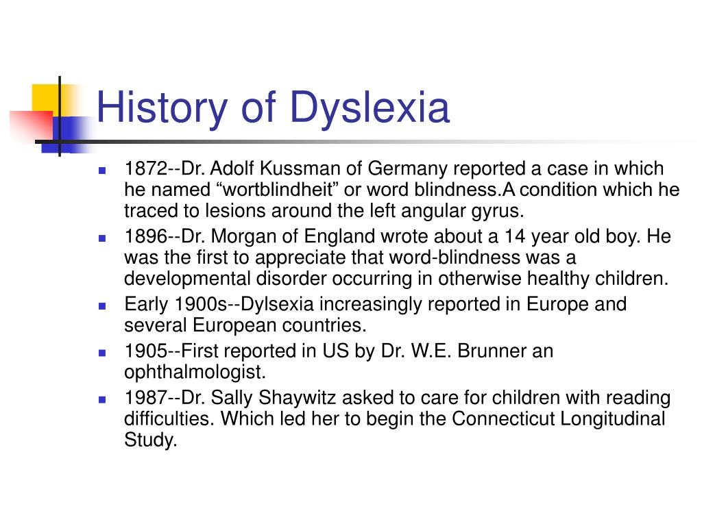 The History Of Dyslexia >> Ppt Dyslexia And The Brain Powerpoint Presentation Id 3420845