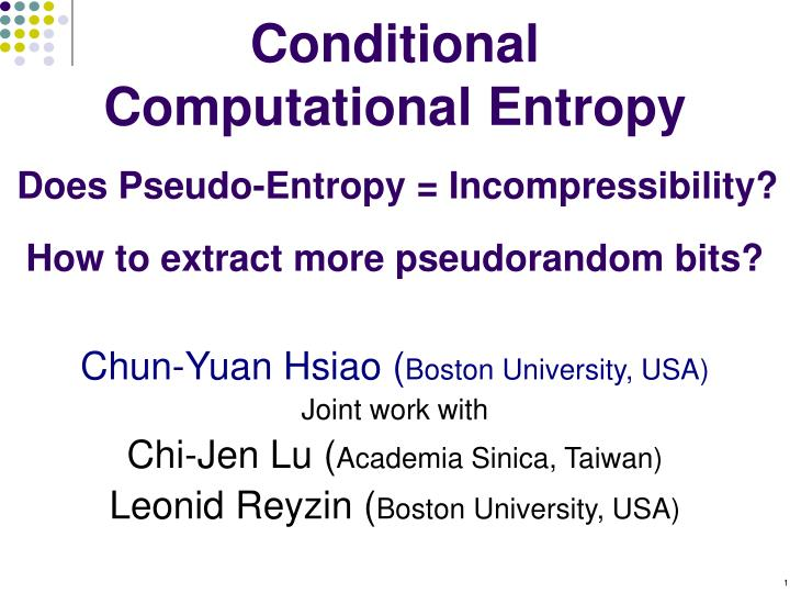 conditional computational entropy n.