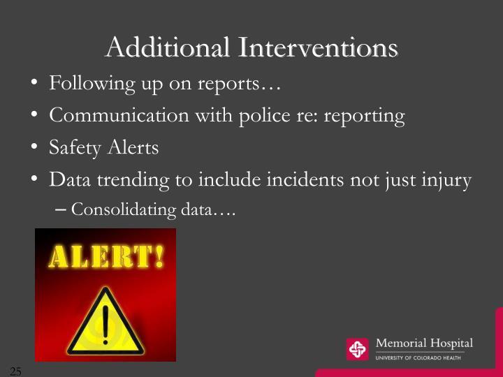 Additional Interventions