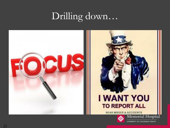 Drilling down…