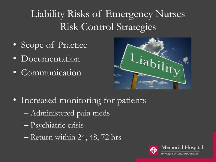 Liability Risks of Emergency Nurses
