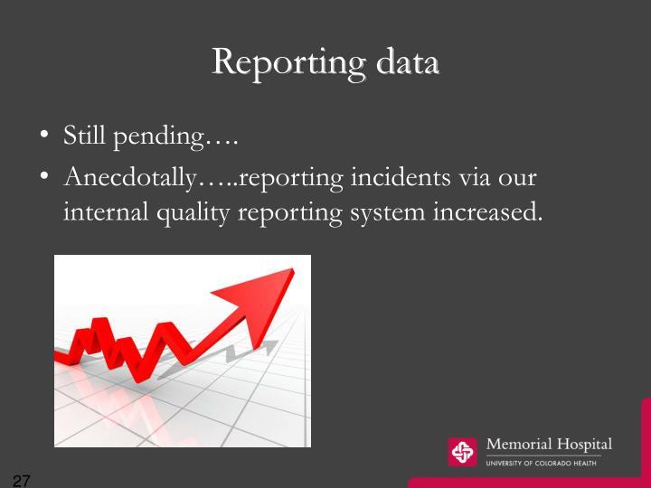 Reporting data