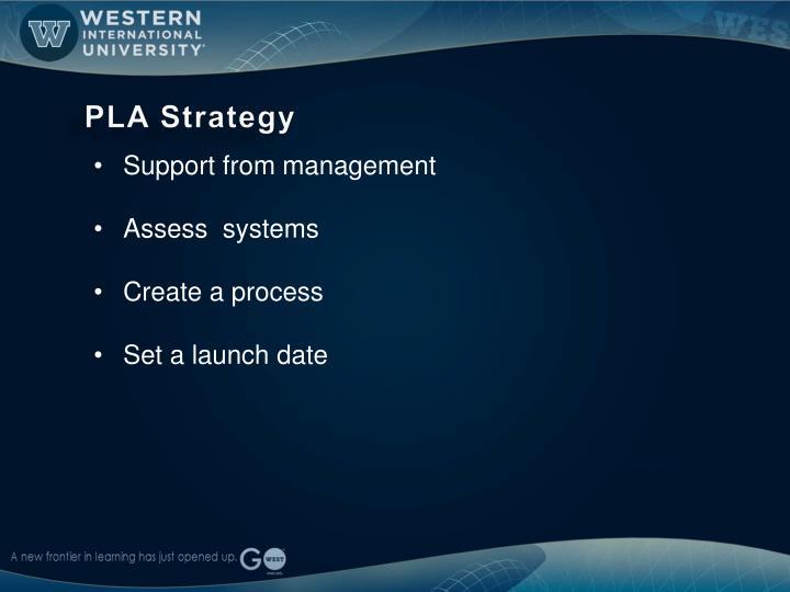 PLA Strategy