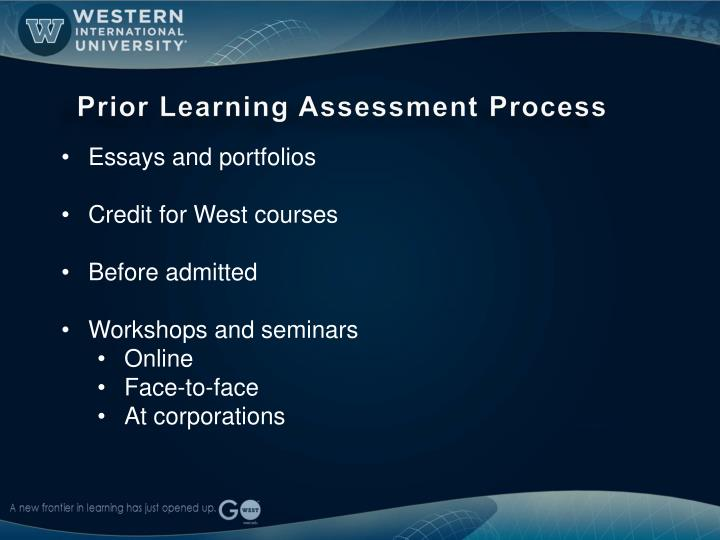 Prior Learning Assessment Process