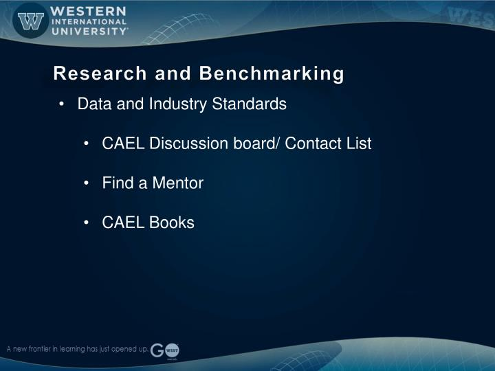 Research and Benchmarking