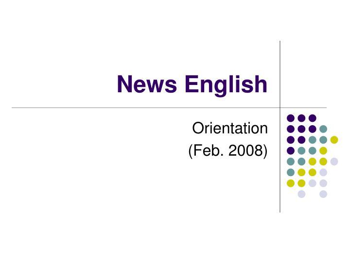 News english
